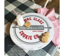 ARW Custom Lazy Susan - Mrs Claus Cookies - Wooden Lazy Susan