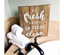 "ARW Custom Wood Sign - So Fresh Sign - 14""×19"" Wood Plank Sign"