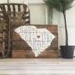 "ARW Custom Wood Sign - State Typography - 19""×14"" Wood Plank Sign"