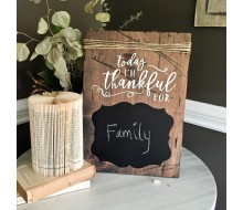 ARW Custom Wood Sign - Thankful For Chalkboard - Wood Plank Sign