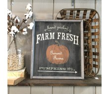 "Custom Wood Sign - Hand Picked Pumpkins - 18""×21"" Wood Sign"