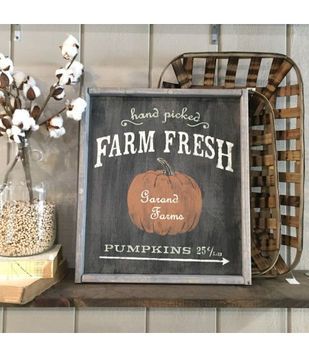 "ARW Custom Wood Sign - Hand Picked Pumpkins - 18""×21"" Wood Sign"