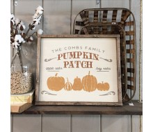 "ARW Custom Wood Sign - Pumpkin Patch Family Name - 18""×21"" Wood Sign"