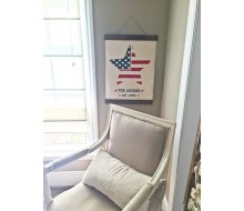 "ARW Custom Canvas Hanging - Patriotic 4th of July Star Name - 15""x20"" Canvas Wall Hanging"