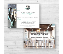 AR Workshop Promotional Merchandise - Gift Certificate Cards (A2 size - 4.25 x 5.5)