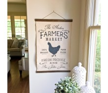 "ARW Custom Canvas Hanging - Farmers Market Tapestry - 20""x30"" Canvas Wall Hanging"