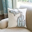 "ARW Custom Pillow Cover - State Typography Name Established - 18""x18"" State Pillow"