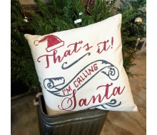 "ARW Custom Pillow Cover - Calling Santa - 18""x18"" Pillow Cover"