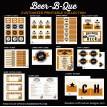 Beer B Que Man Party Barbeque Printables Collection