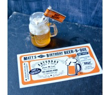 Beer B Que Man Birthday Party Printable Invitation