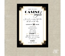 Casino Royale Poker Vegas Birthday Party Printable Invitation