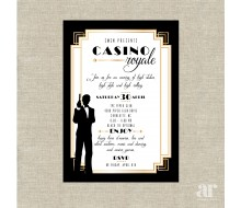 Casino Royale James Bond Poker Vegas Birthday Party Printable Invitation