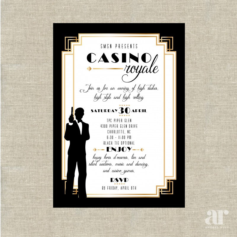 casino royale james bond poker vegas birthday party