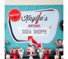 Diner Soda Shoppe 50s Retro Birthday Party Printable Sign