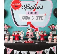Diner Soda Shoppe 50s Retro Party Printable Collection