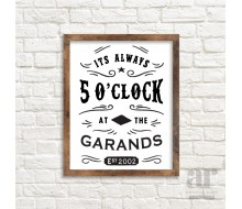 Personalized Always 5 O'clock Poster - Printable 20x30 Poster
