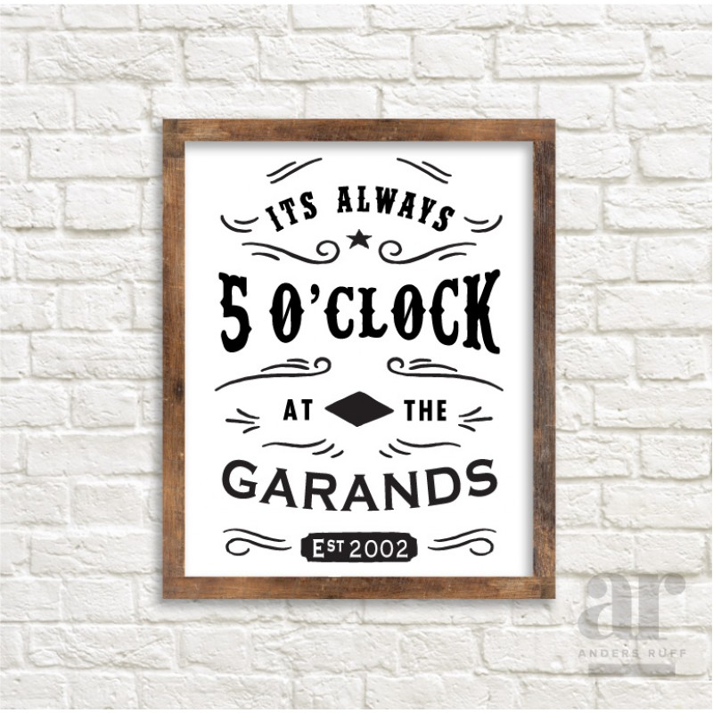 always 5 o clock somewhere poster print 20x30