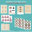 Smokin Hot BBQ Barbeque Birthday Party Printables Collection