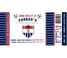 Soccer Ticket Birthday Party Printable 4x8 Invitation