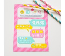 Social Media Tween Teen Birthday Party Invitation