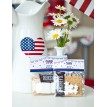 All American 4th of July Printable Folding Bag Topper or S'mores Bag Topper - Instant Download