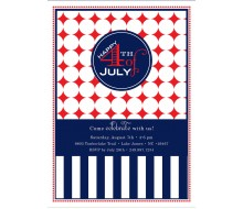 Red White And Blue Birthday Party Or 4th Of July Printable Invitation