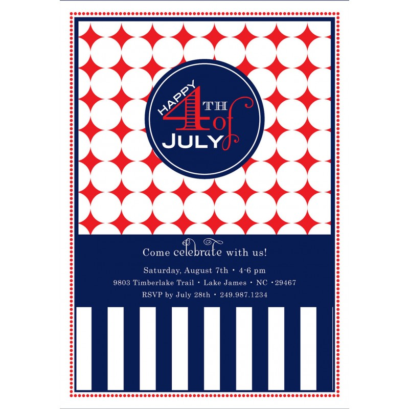 red white and blue birthday invitations selo l ink co