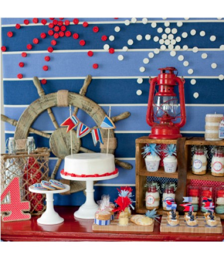 Nautical 4th of July Printable Party Collection - Instant Download