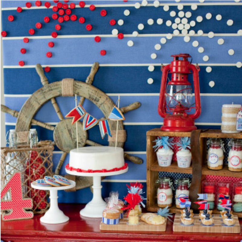 Nautical 4th Of July Printable Party Collection Instant