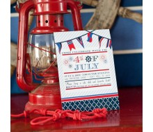 Nautical 4th of July Holiday or Party Printable Invitation