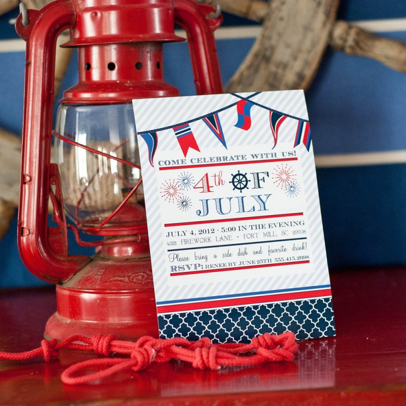 4th of July Holiday or Party Printable Invitation
