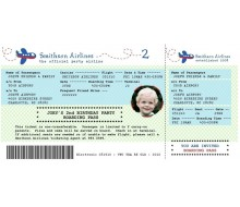 Airplane Birthday Party - Printable Boarding Pass Invitation