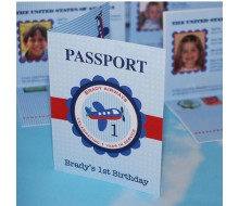 Airplane Passport Birthday Party Printable Invitation - Passport