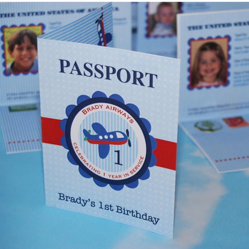 Airplane passport birthday party printable invitation passport filmwisefo