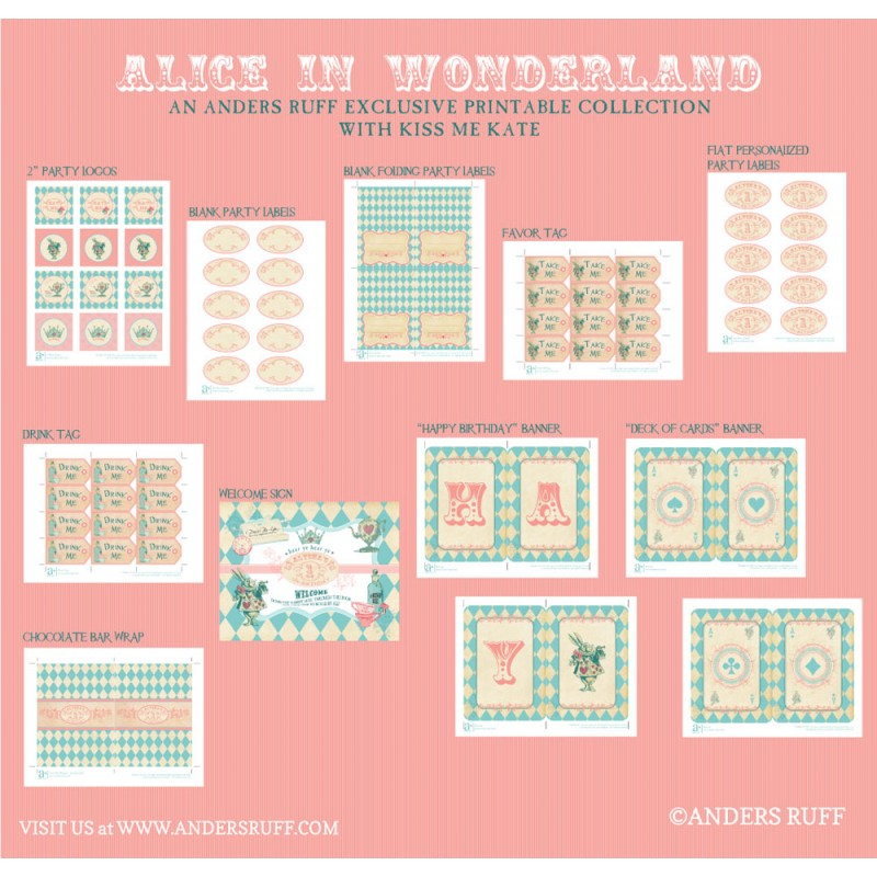 picture about Alice in Wonderland Printable named Alice within Wonderland Influenced Birthday Social gathering Printables