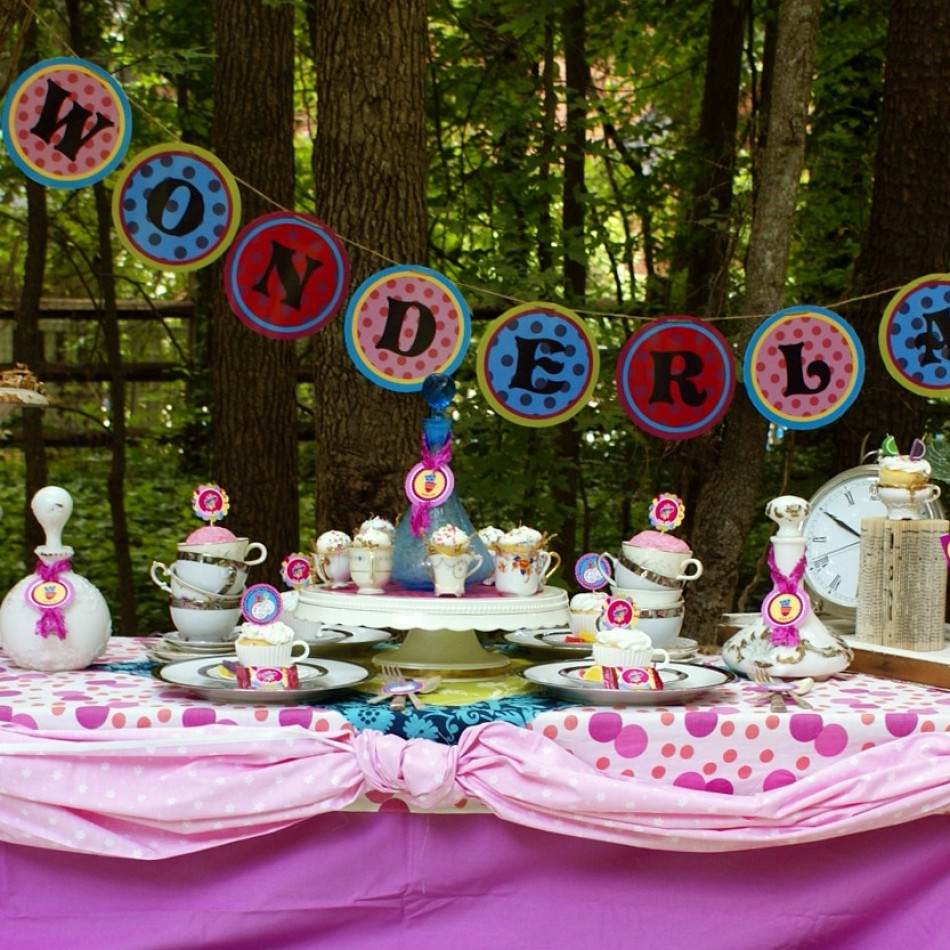 tea party alice in wonderland ideas