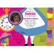 Alice in Wonderland Dress Photo Printable Birthday Party Invitation
