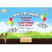 Bird Game Birthday Party Printable Invitation