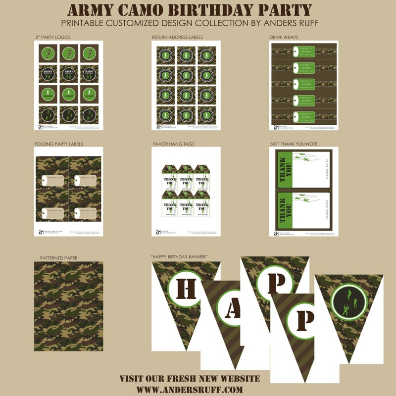 photo about Camo Printable identify Navy Camo Birthday Celebration Printable Choice