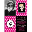 Glamour Barbie Girl Inspired Birthday Party Printable Invitation