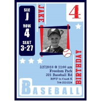 Baseball Card Birthday Party Printable Invitation
