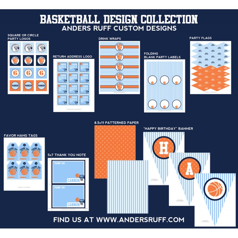Basketball Birthday Party Printable Collection