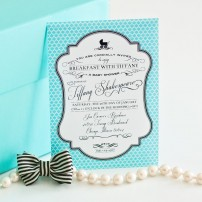 Breakfast at Tiffany's Inspired Printable Invitation - Baby Shower