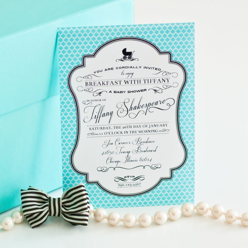 at Tiffany\'s Inspired Printable Invitation - Baby Shower