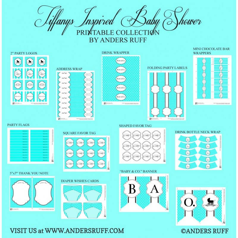 at Tiffanys Inspired Baby Shower Printables Collection