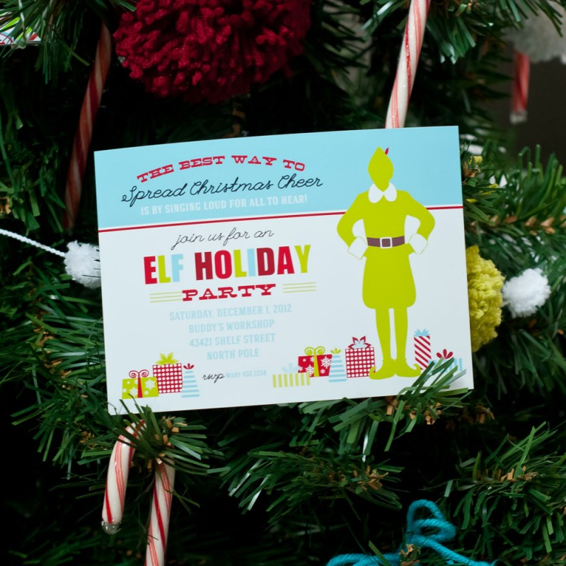 Buddy the Elf Christmas Party Printable Invitation