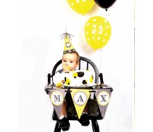Bumble Bee Day Birthday Party Printable High Chair Banner