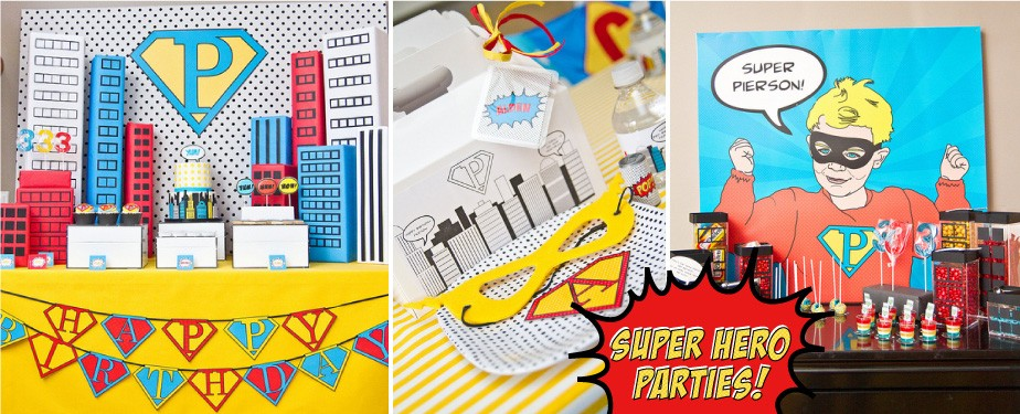 5.Super Hero Birthday Party Printables