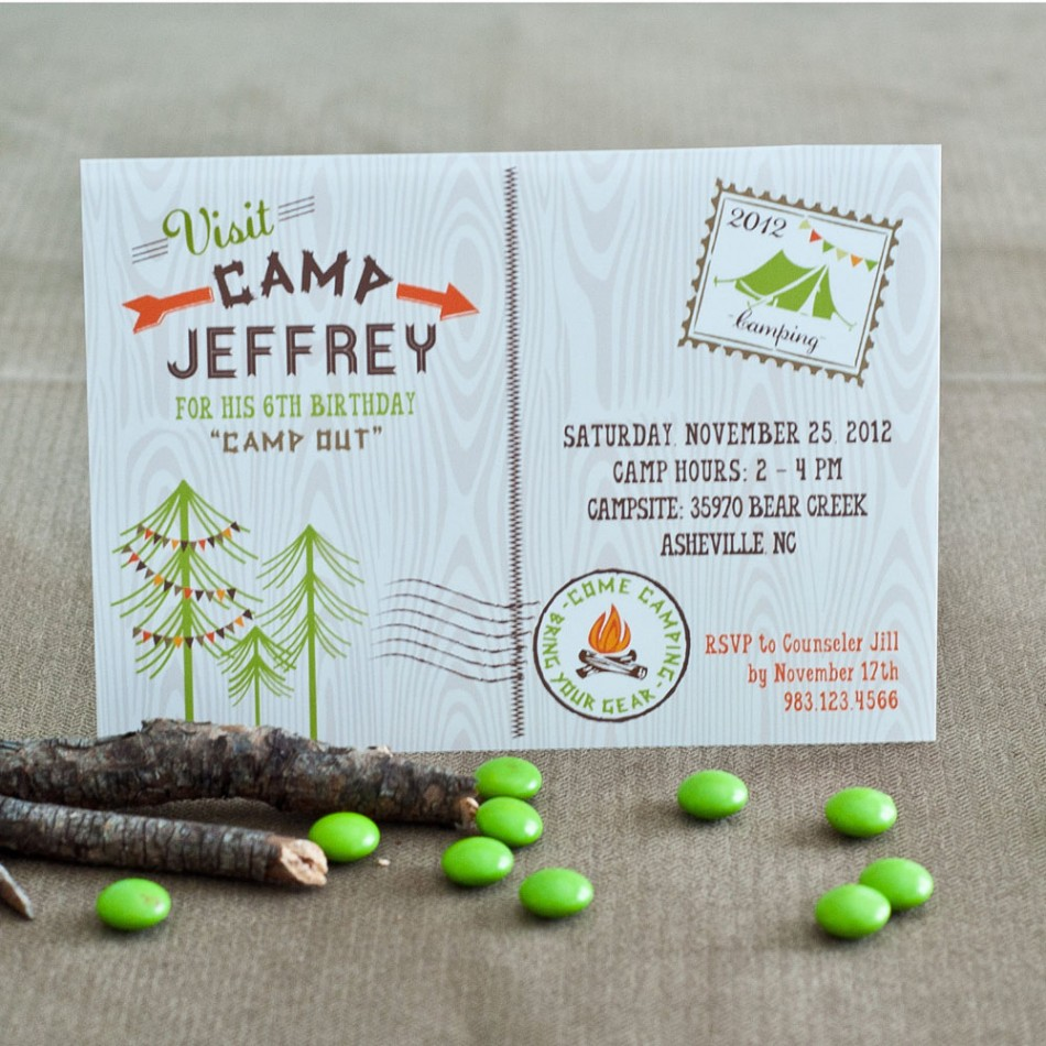 Camping Birthday Party Invitations can inspire you to create best invitation template