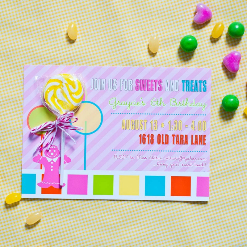 Land Inspired Birthday Party Printable Invitation – Candyland Birthday Party Invitations